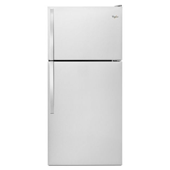 Model: WRT318FZDM | Whirlpool 30-inch Wide Top Freezer Refrigerator - 18 cu. ft.