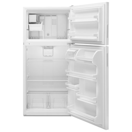 Model: WRT348FMEW | Whirlpool 30-inch Wide Top Freezer Refrigerator - 18 cu. ft.