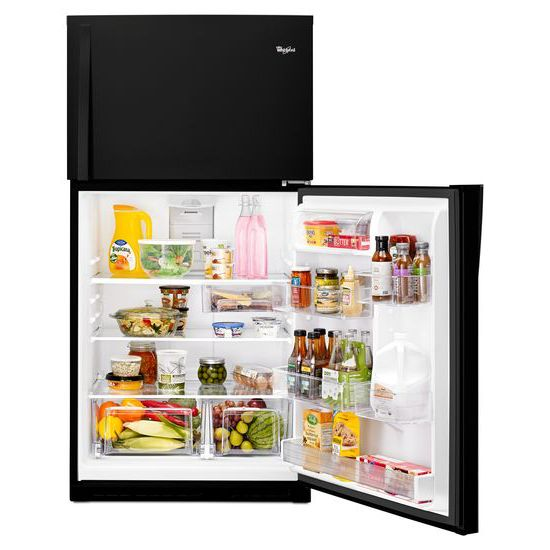 Model: WRT511SZDB | Whirlpool 33-inch Wide Top Freezer Refrigerator - 21 cu. ft.