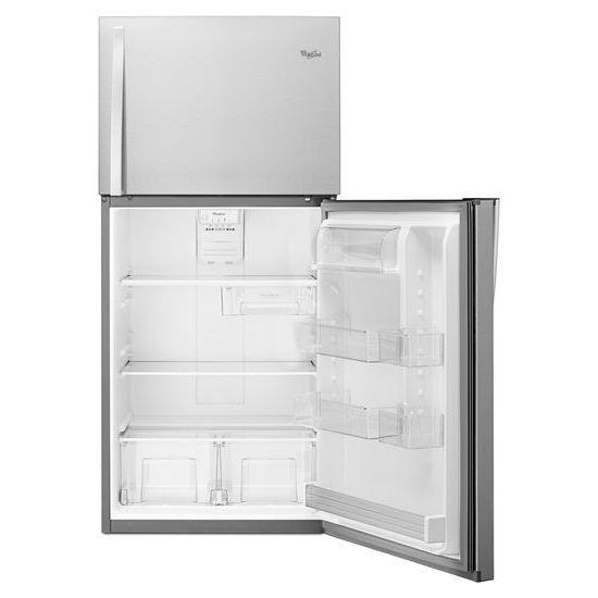 Model: WRT519SZDM | Whirlpool 30-inch Wide Top Freezer Refrigerator - 19 cu. ft.