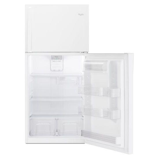 Model: WRT519SZDW | Whirlpool 30-inch Wide Top Freezer Refrigerator - 19 cu. ft.