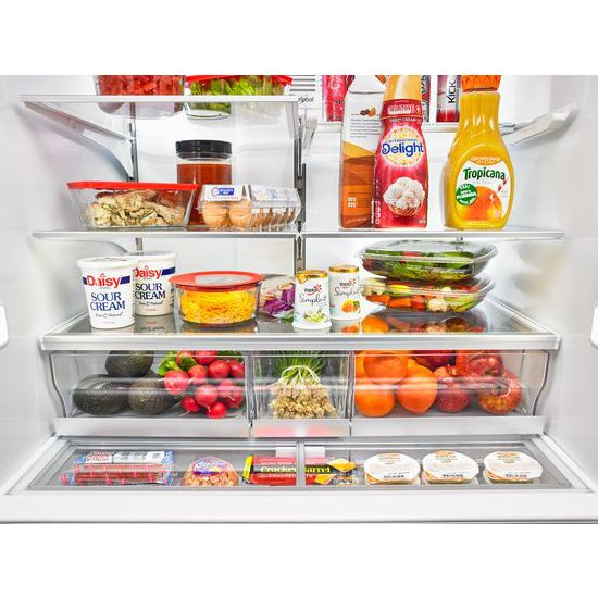 Model: WRV986FDEM | Whirlpool 26 cu. ft. Double Drawer Refrigerator with Dual Icemakers