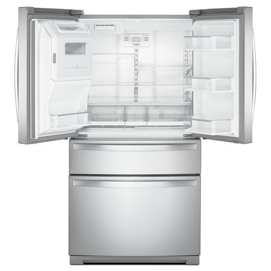 Model: WRX986SIHZ | Whirlpool 36-inch Wide 4-Door Refrigerator with Exterior Drawer - 26 cu. ft.