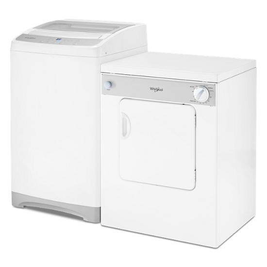 Model: WTW2000HW | Whirlpool 1.6 cu. ft. Compact Top Load Washer with Flexible Installation
