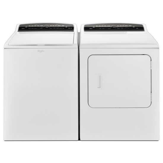 Model: WTW7000DW | Whirlpool 4.8 cu.ft HE Top Load Washer with Adapative Wash Technology, Intuitive Touch Controls