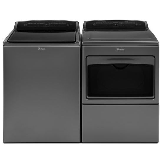 Model: WTW7500GC | Whirlpool 4.8 cu.ft HE Top Load Washer with Built-In Water Faucet, Intuitive Touch Controls