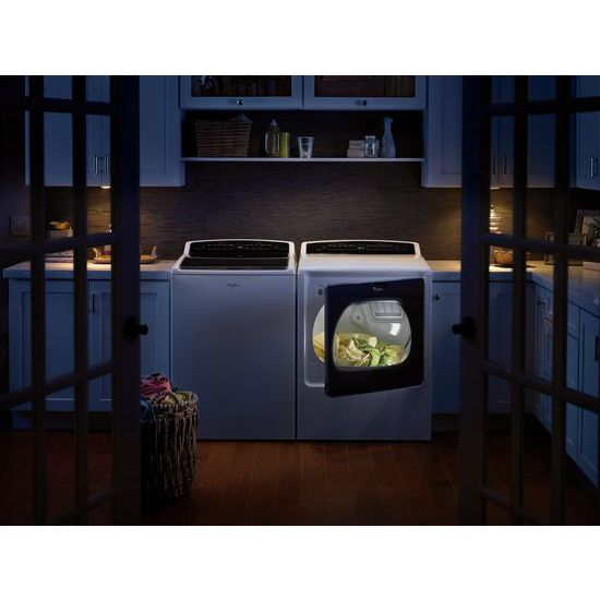 Model: WTW8000DW | Whirlpool 5.3 cu.ft HE Top Load Washer with Adaptive Wash Technology, Intuitive Touch Controls