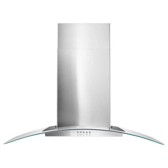 """Unbranded 36"""" Concave Glass Wall Mount Range Hood"""
