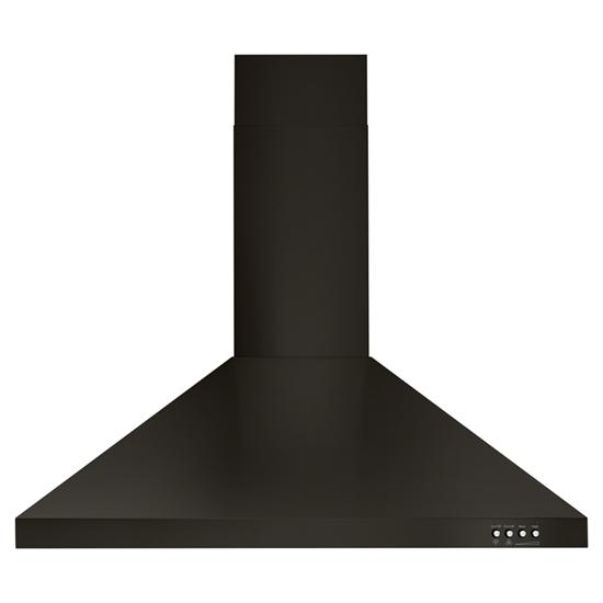 "Unbranded 30"" Contemporary Black Stainless Wall Mount Range Hood"