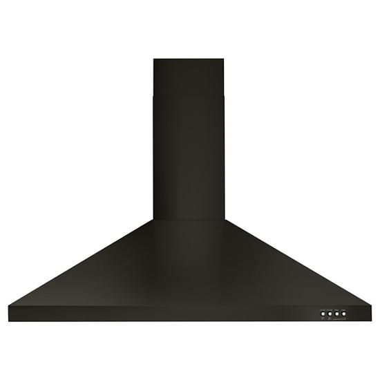 "Unbranded 36"" Contemporary Black Stainless Wall Mount Range Hood"