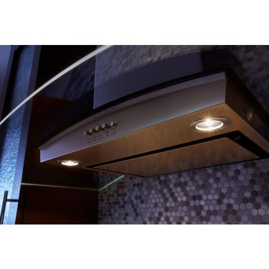 "Model: WVWA5UC0HN | Unbranded 30"" Modern Glass Wall Mount Range Hood"
