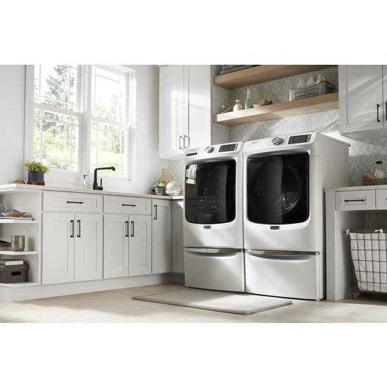 "Model: XHPC155XW | Maytag 15.5"" Pedestal for Front Load Washer and Dryer with Storage"