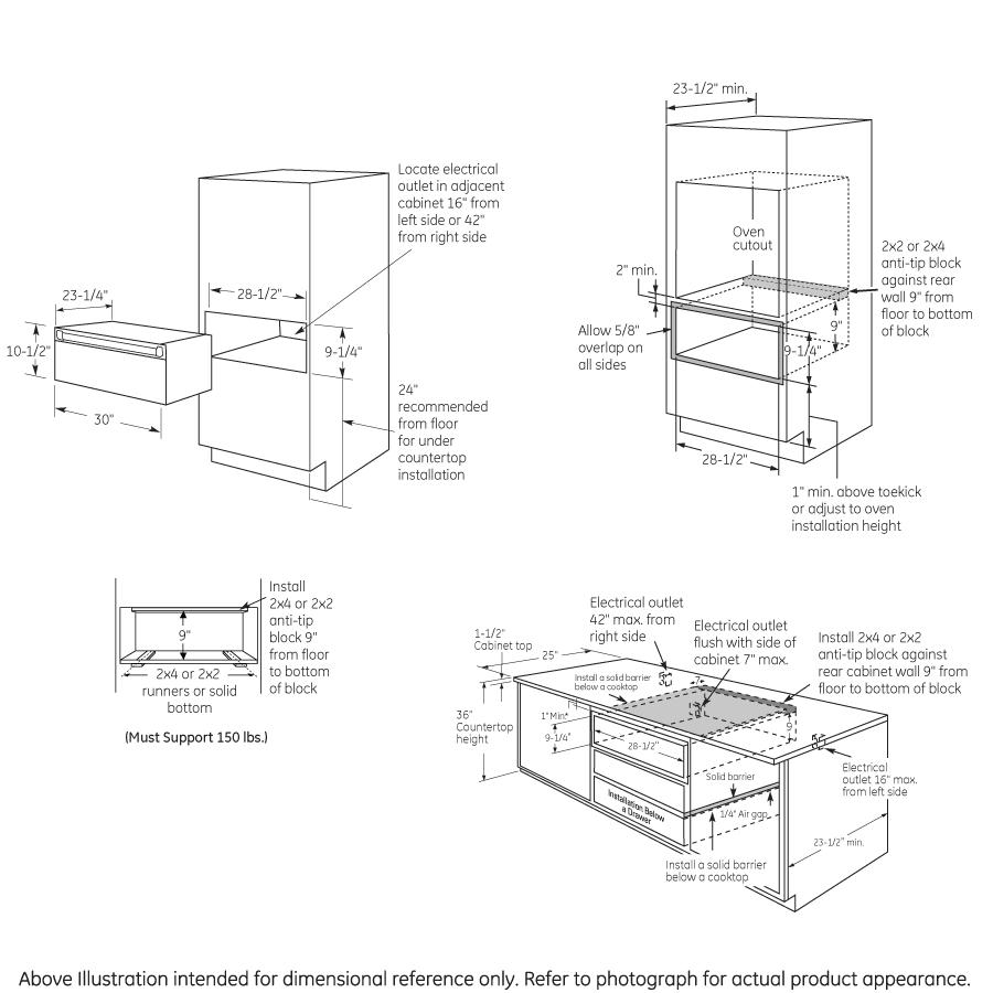 """Model: CW9000SJSS   GE Cafe GE Café™ Series 30"""" Warming Drawer"""