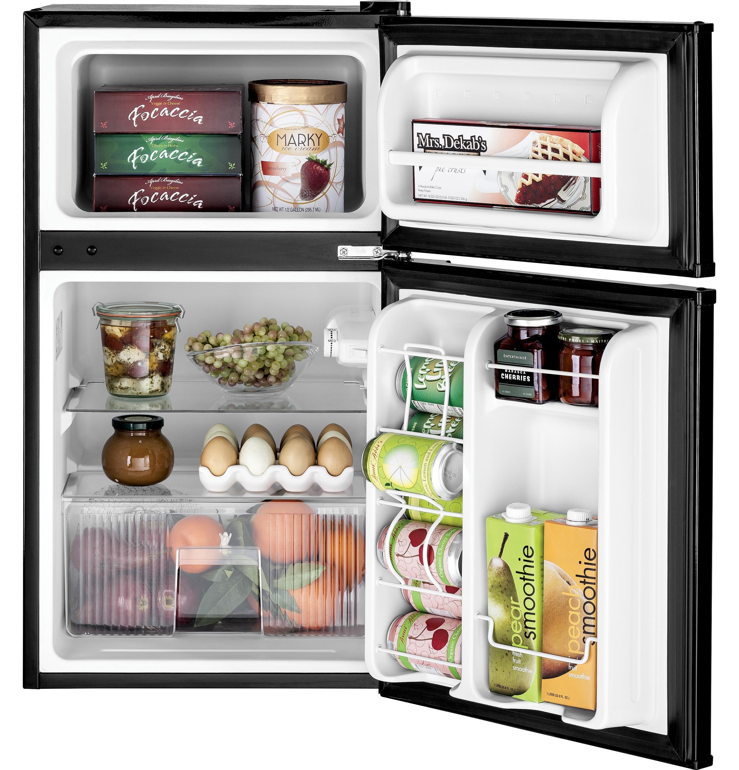 Model: GDE03GGKBB | GE GE® Double-Door Compact Refrigerator