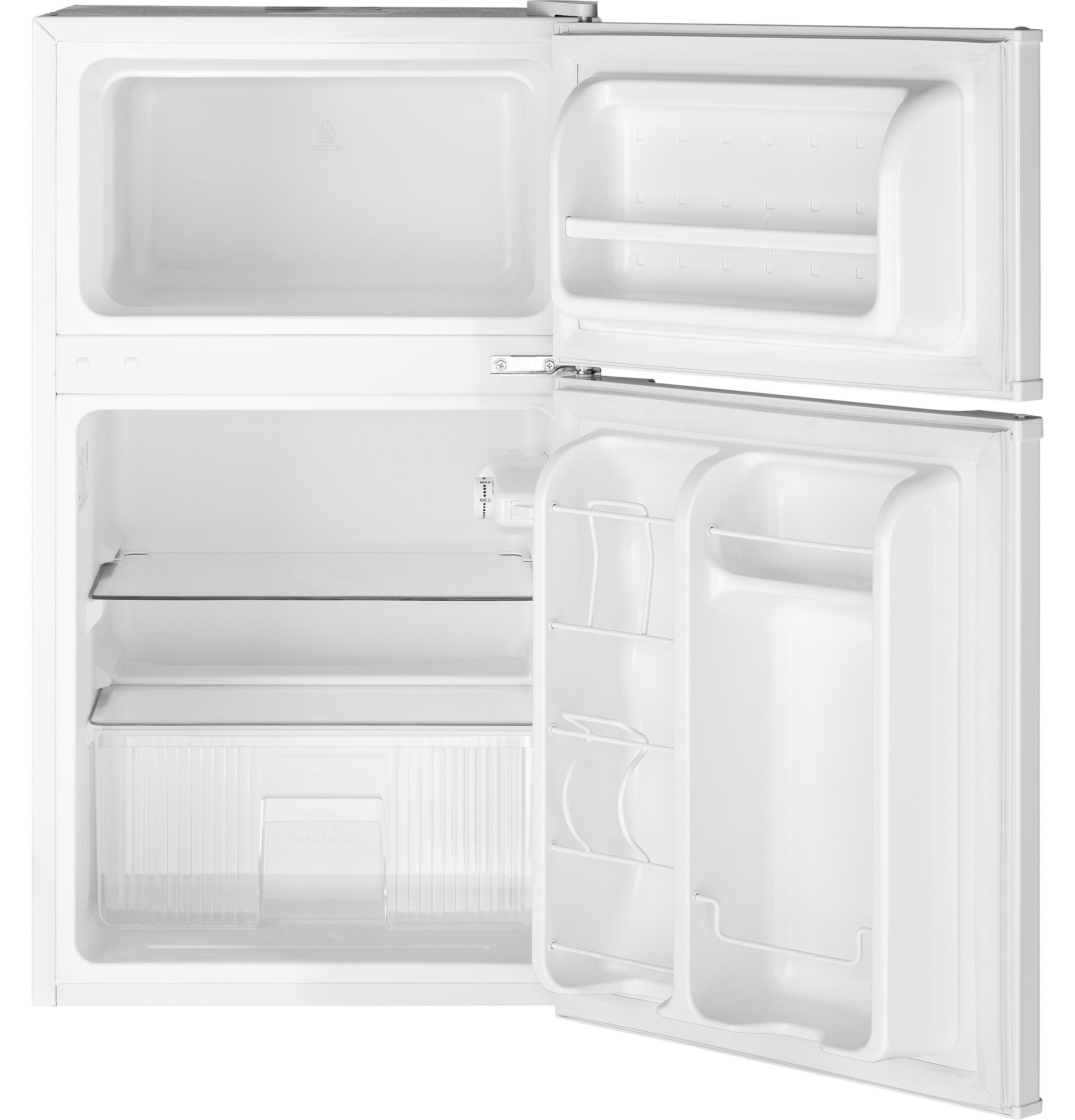 Model: GDE03GGKWW | GE GE® Double-Door Compact Refrigerator