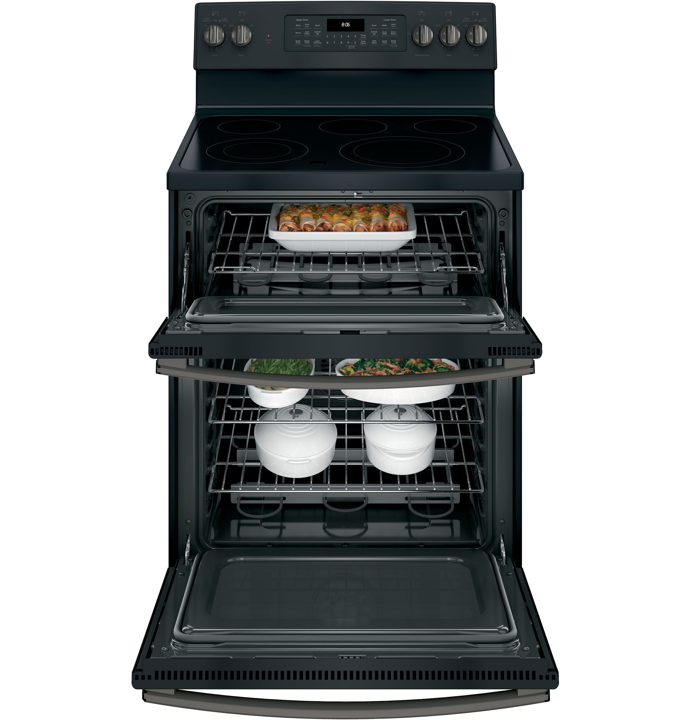 "Model: JB860FJDS | GE GE® 30"" Free-Standing Electric Double Oven Convection Range"