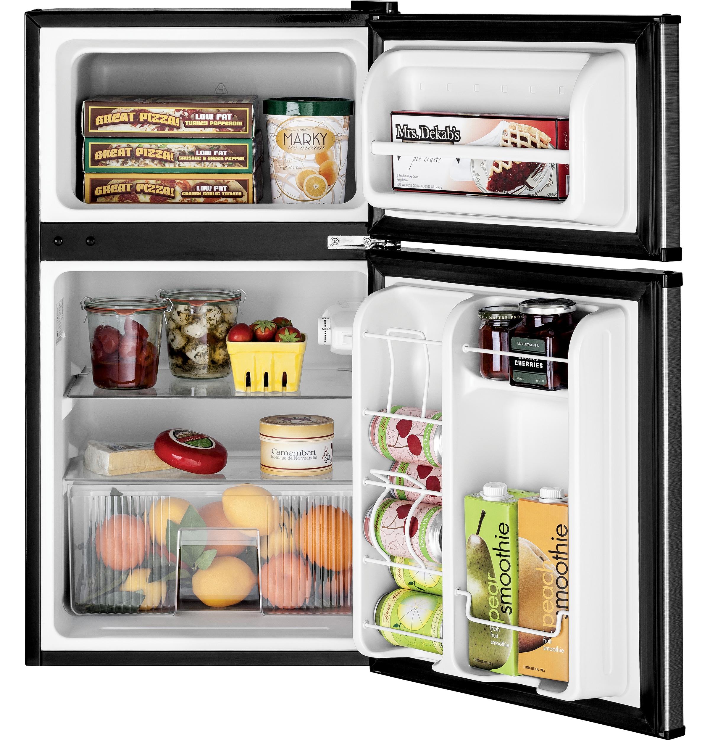 Model: GDE03GLKLB   GE GE® Double-Door Compact Refrigerator