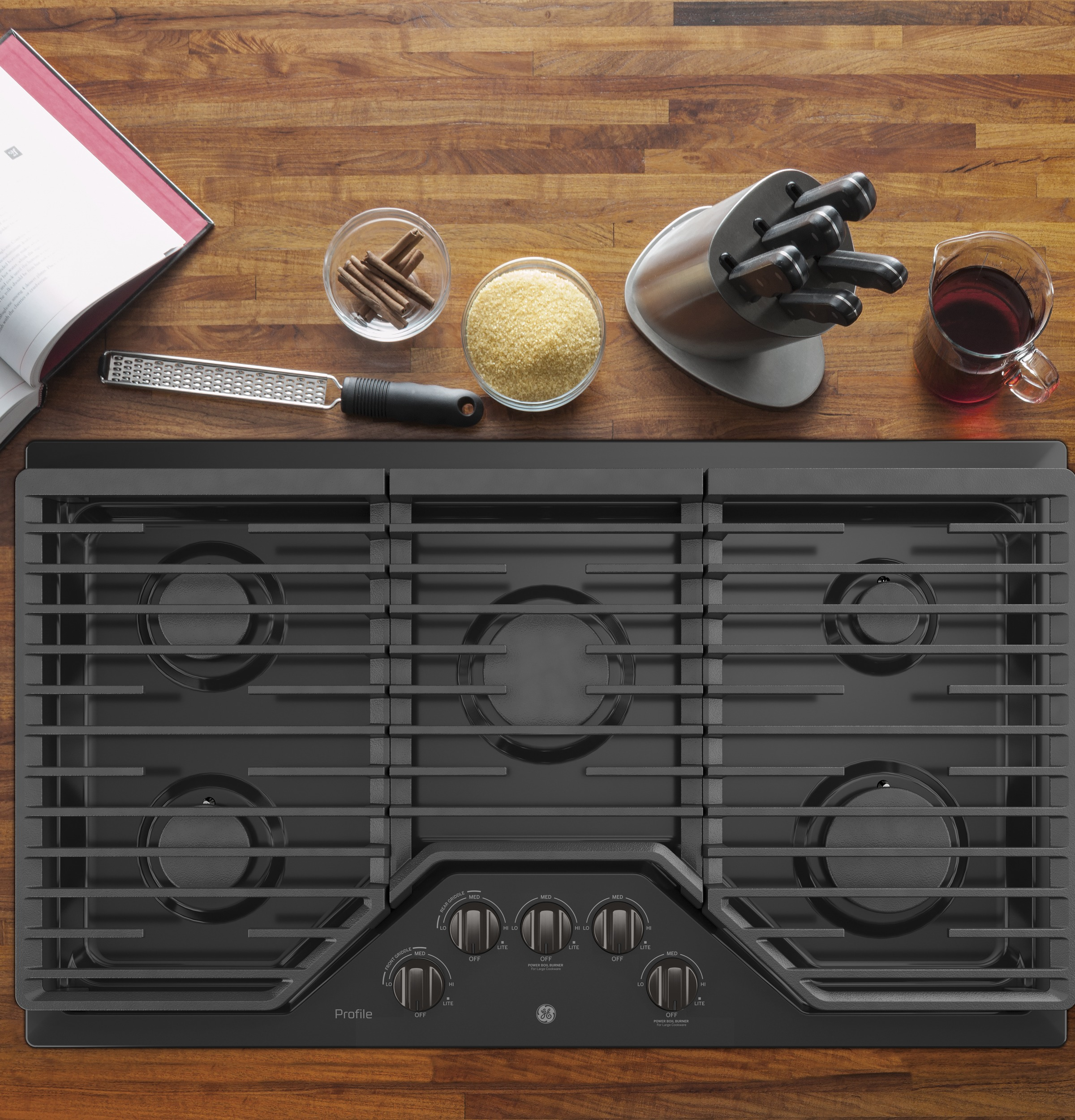 "Model: PGP7036BMTS | GE Profile GE Profile™ 36"" Built-In Gas Cooktop"