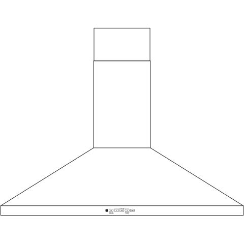 "Model: JVW5361EJES | GE GE® 36"" Wall-Mount Pyramid Chimney Hood"