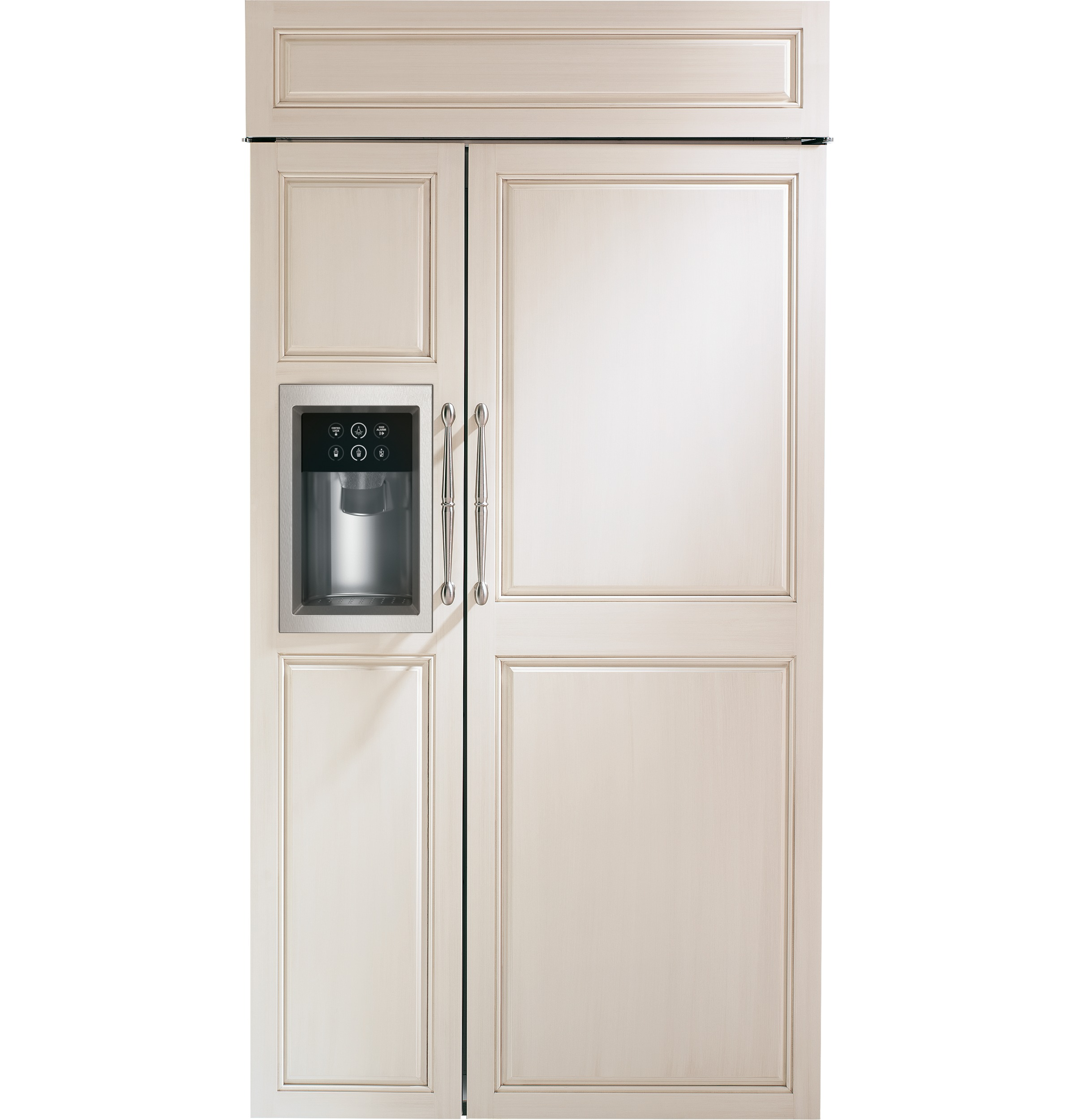 "Monogram Monogram 42"" Built-In Side-by-Side Refrigerator with Dispenser"