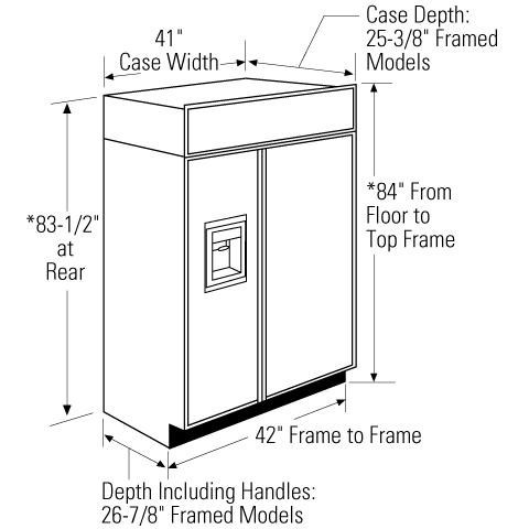 "Model: ZISB420DK | Monogram Monogram 42"" Built-In Side-by-Side Refrigerator with Dispenser"