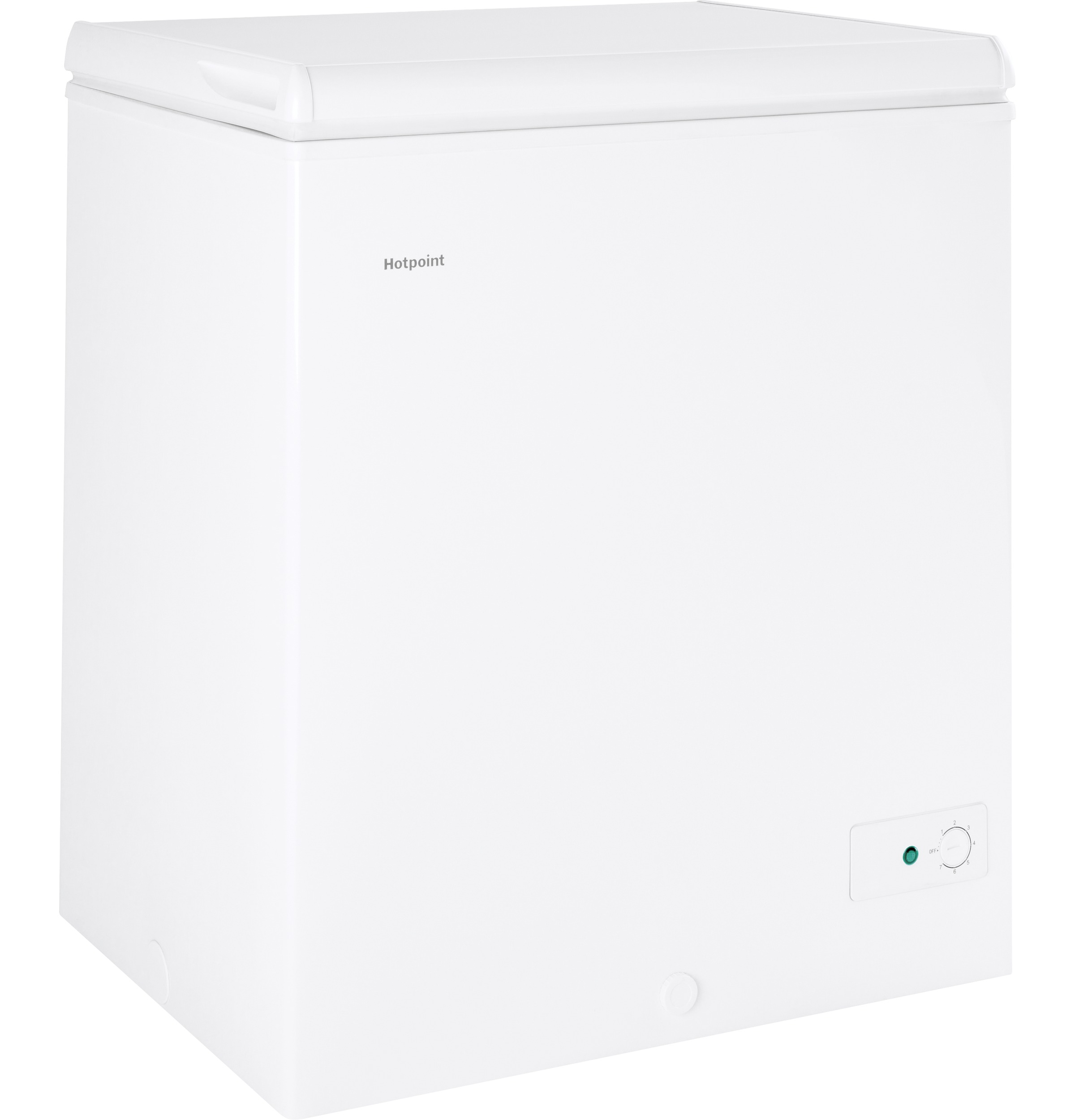 Model: HCM5SMWW | Hotpoint® 5.1 Cu. Ft. Manual Defrost Chest Freezer