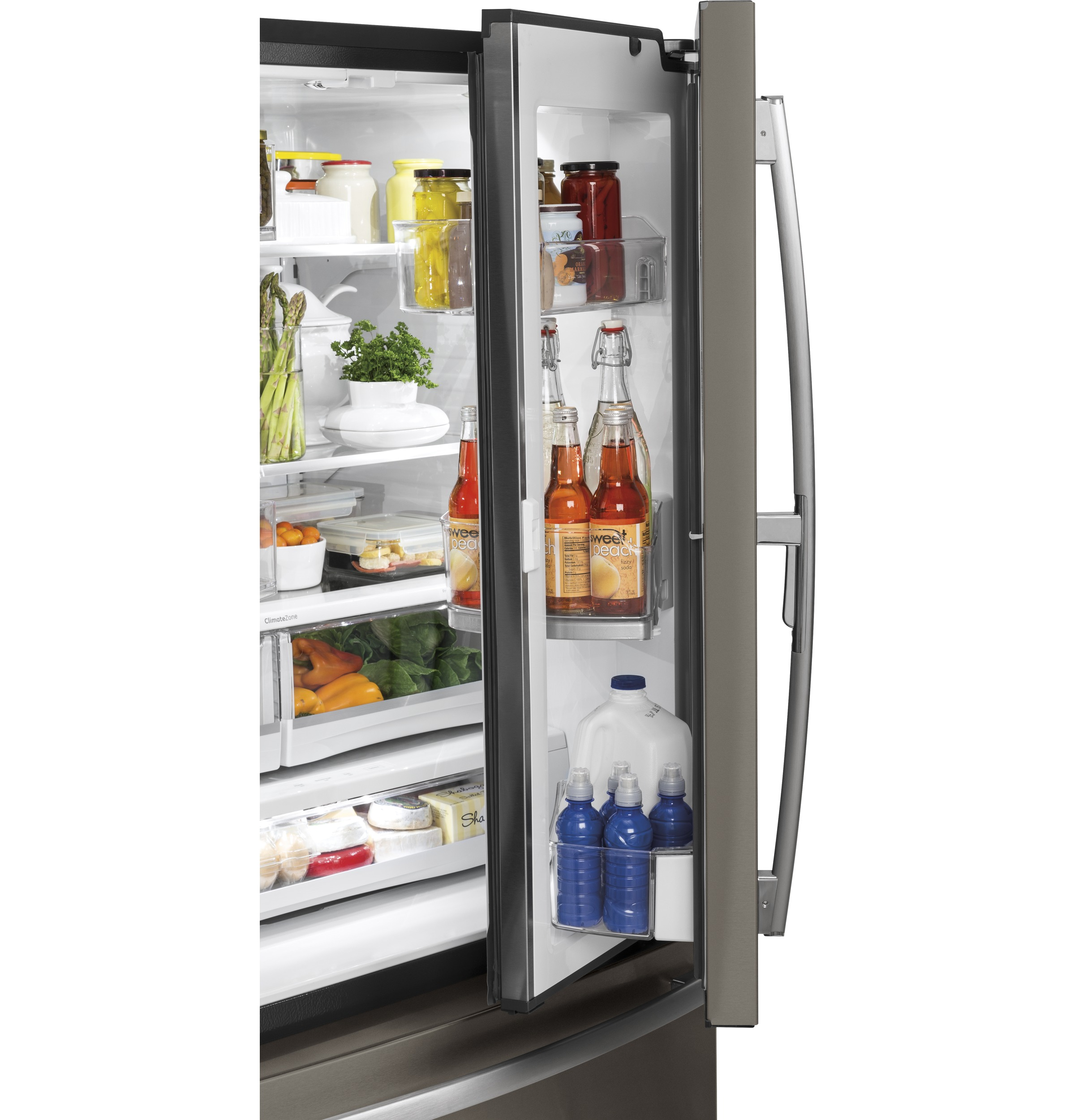 Model: GFD28GMLES | GE GE® 27.8 Cu. Ft. French-Door Refrigerator with Door In Door