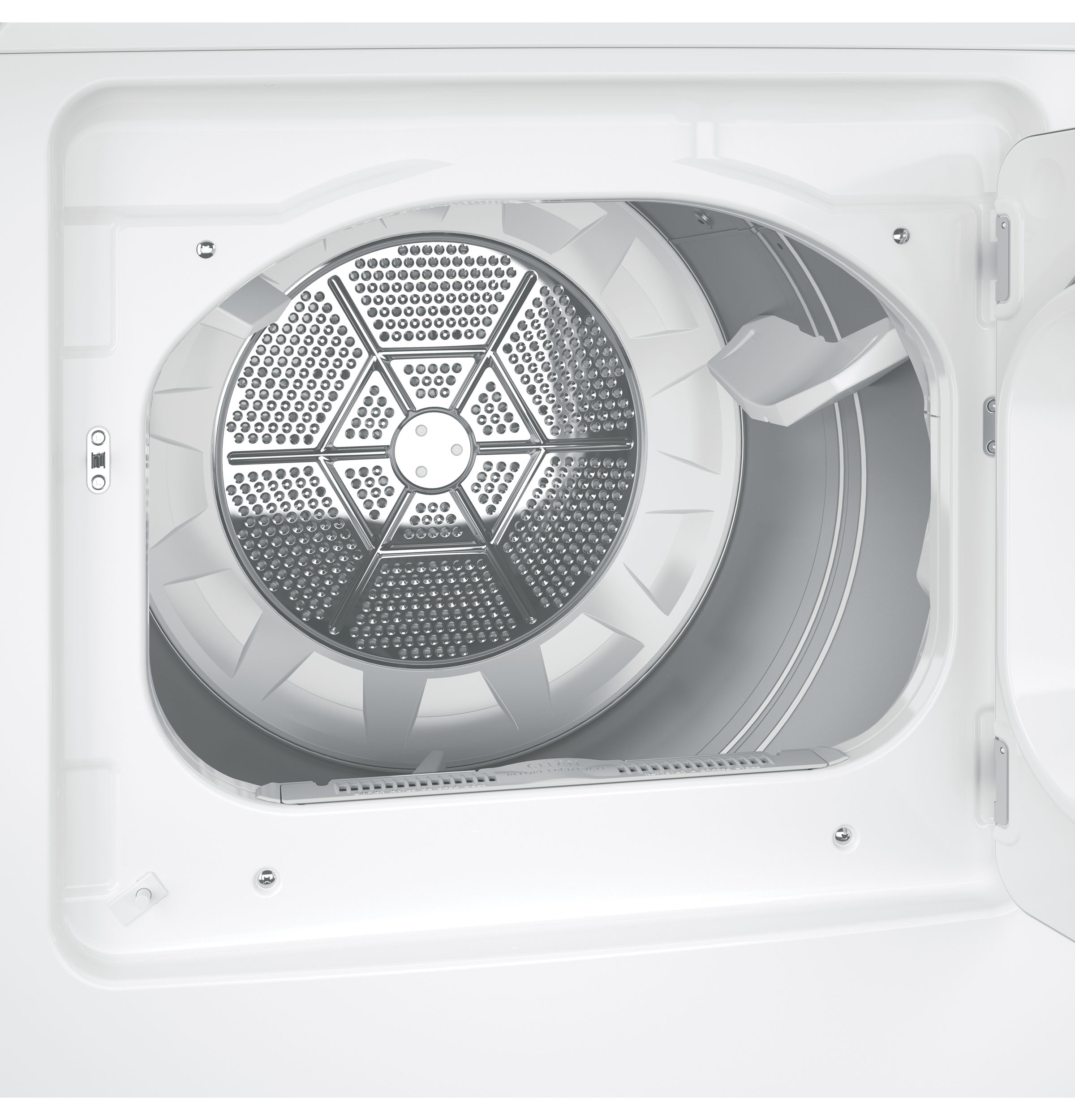 Model: GTD65EBSJWS | GE GE® 7.4 cu. ft. Capacity aluminized alloy drum Electric Dryer with HE Sensor Dry