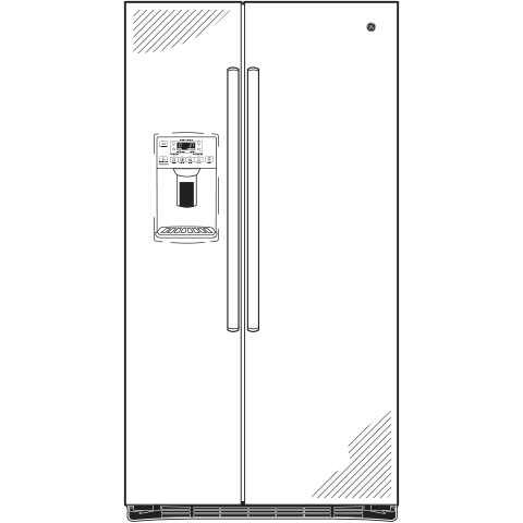 Model: GSE25HBLTS | GE GE® ENERGY STAR® 25.3 Cu. Ft. Side-By-Side Refrigerator