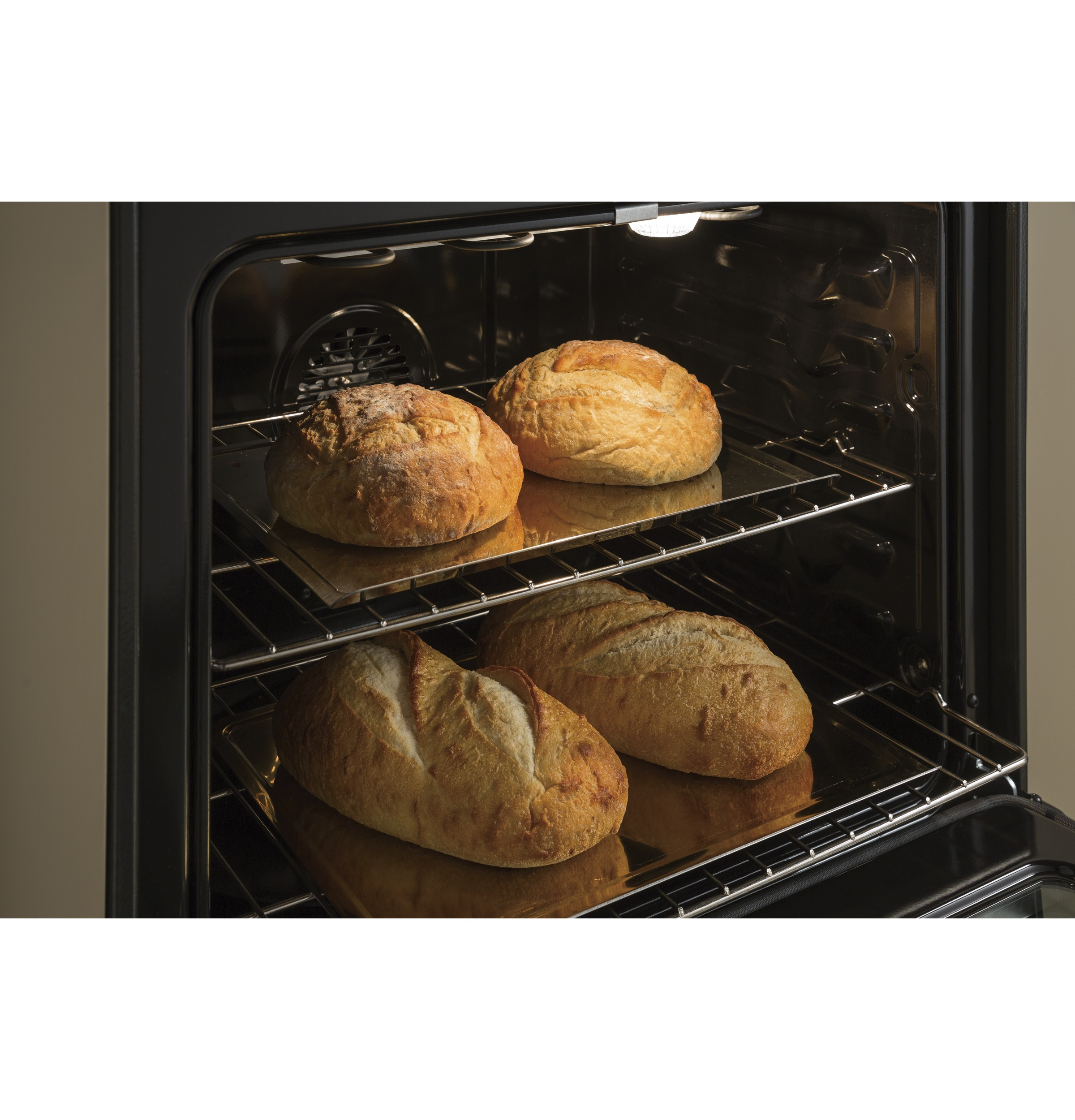 "Model: JS760ELES | GE GE® 30"" Slide-In Electric Convection Range"