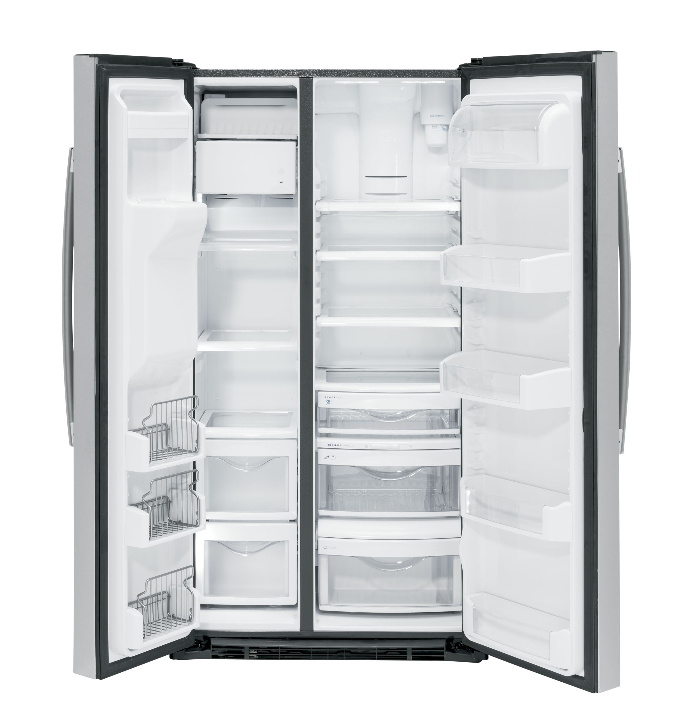 Model: PZS22MSKSS | GE Profile™ Series 21.9 Cu. Ft. Counter-Depth Side-By-Side Refrigerator