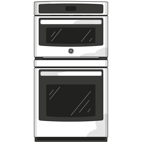 "Model: PK7800SKSS | Profile GE Profile™ 27"" Built-In Combination Convection Microwave/Convection Wall Oven"