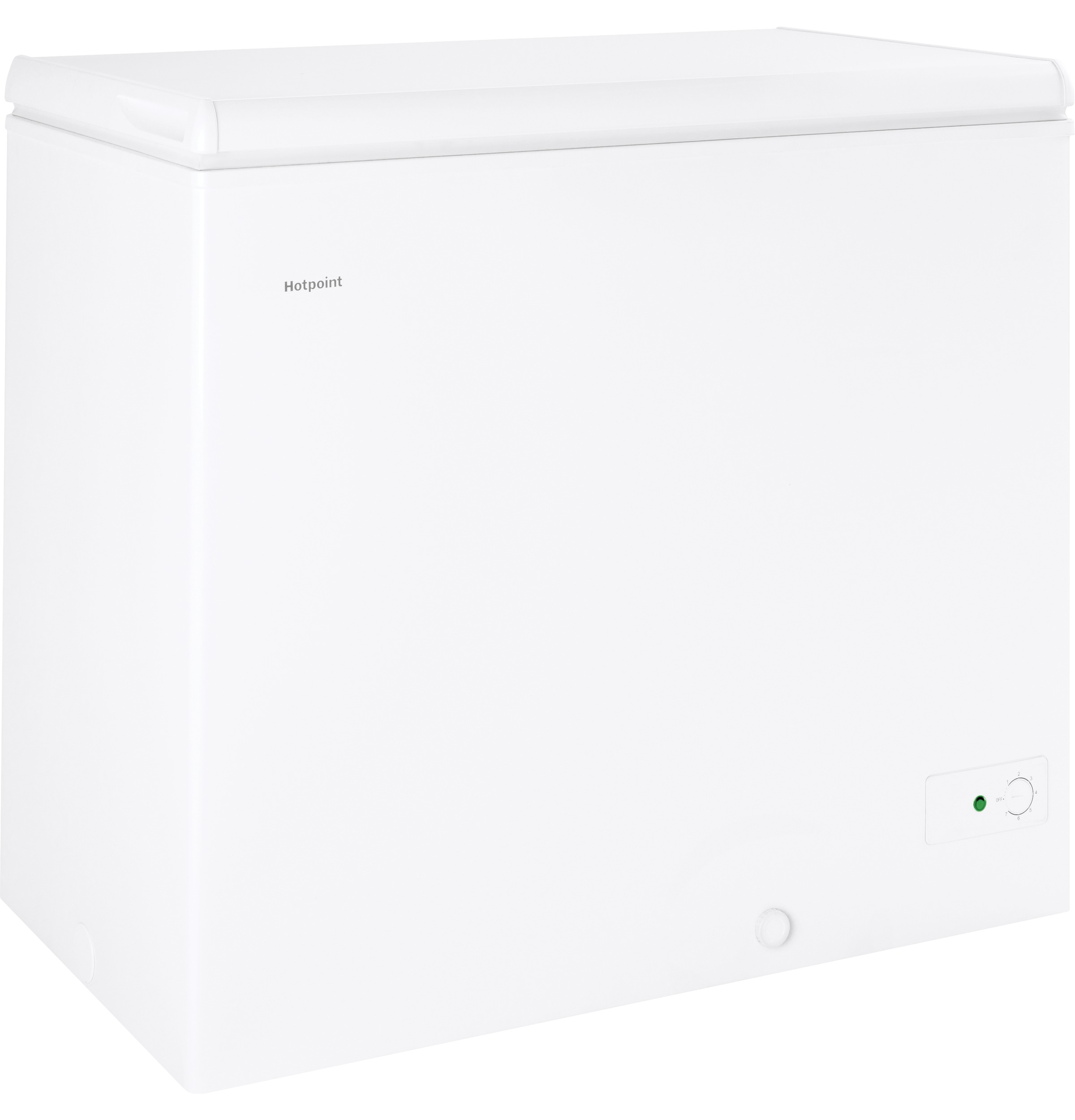 Model: HCM7SMWW | Hotpoint Hotpoint® 7.1 Cu. Ft. Manual Defrost Chest Freezer