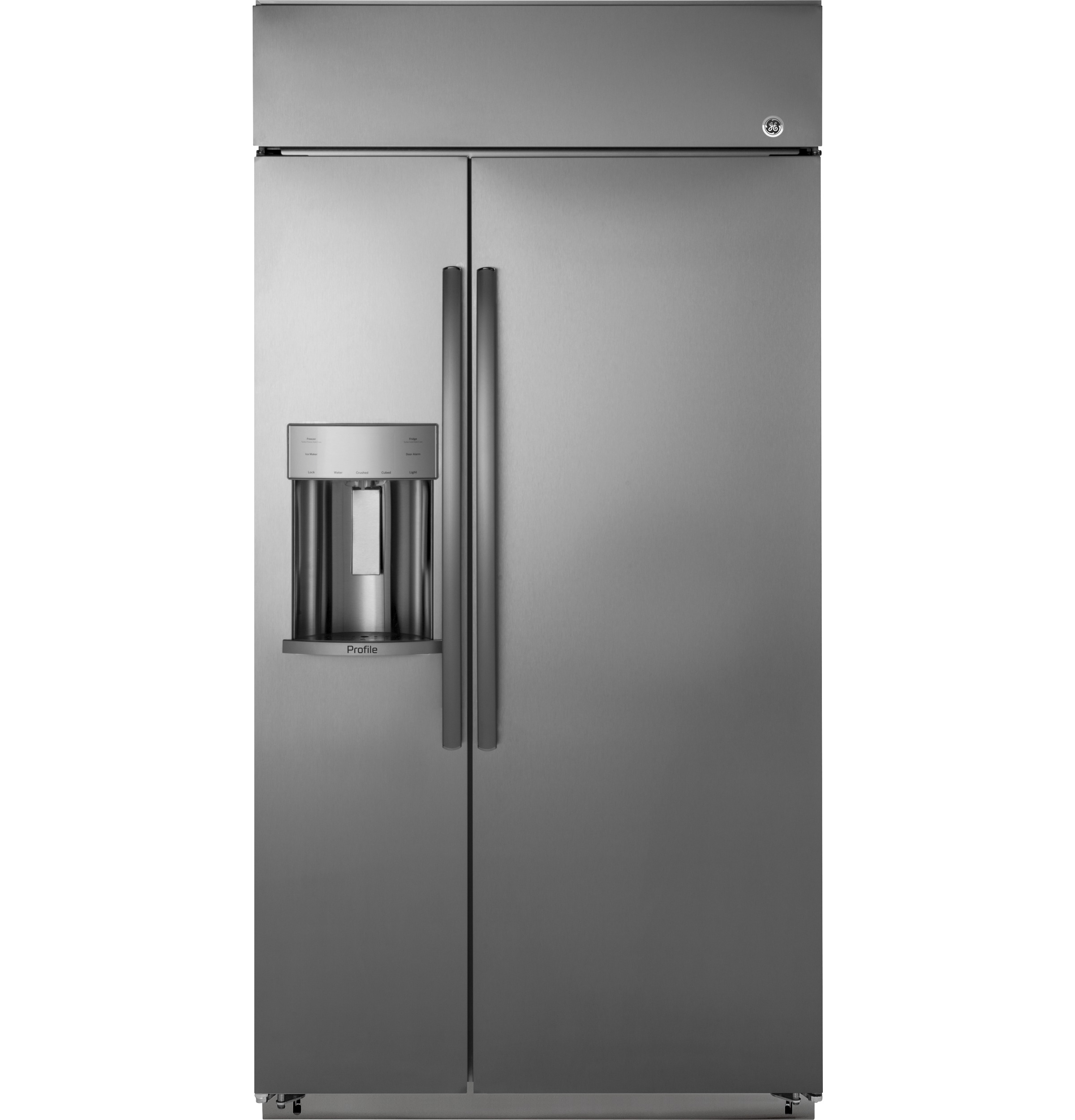 "Profile GE Profile™ Series 42"" Built-In Side-by-Side Refrigerator with Dispenser"