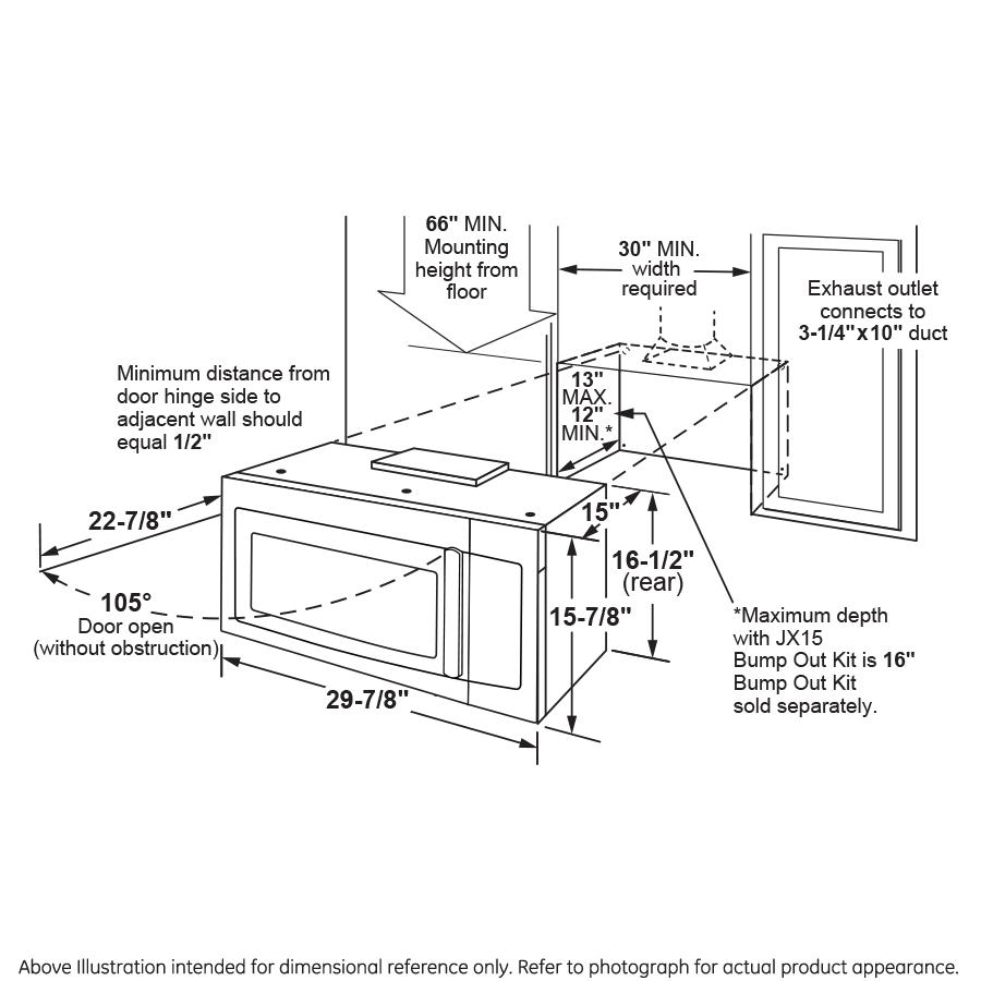 Model: JVM6172DKBB | GE GE® 1.7 Cu. Ft. Over-the-Range Microwave Oven