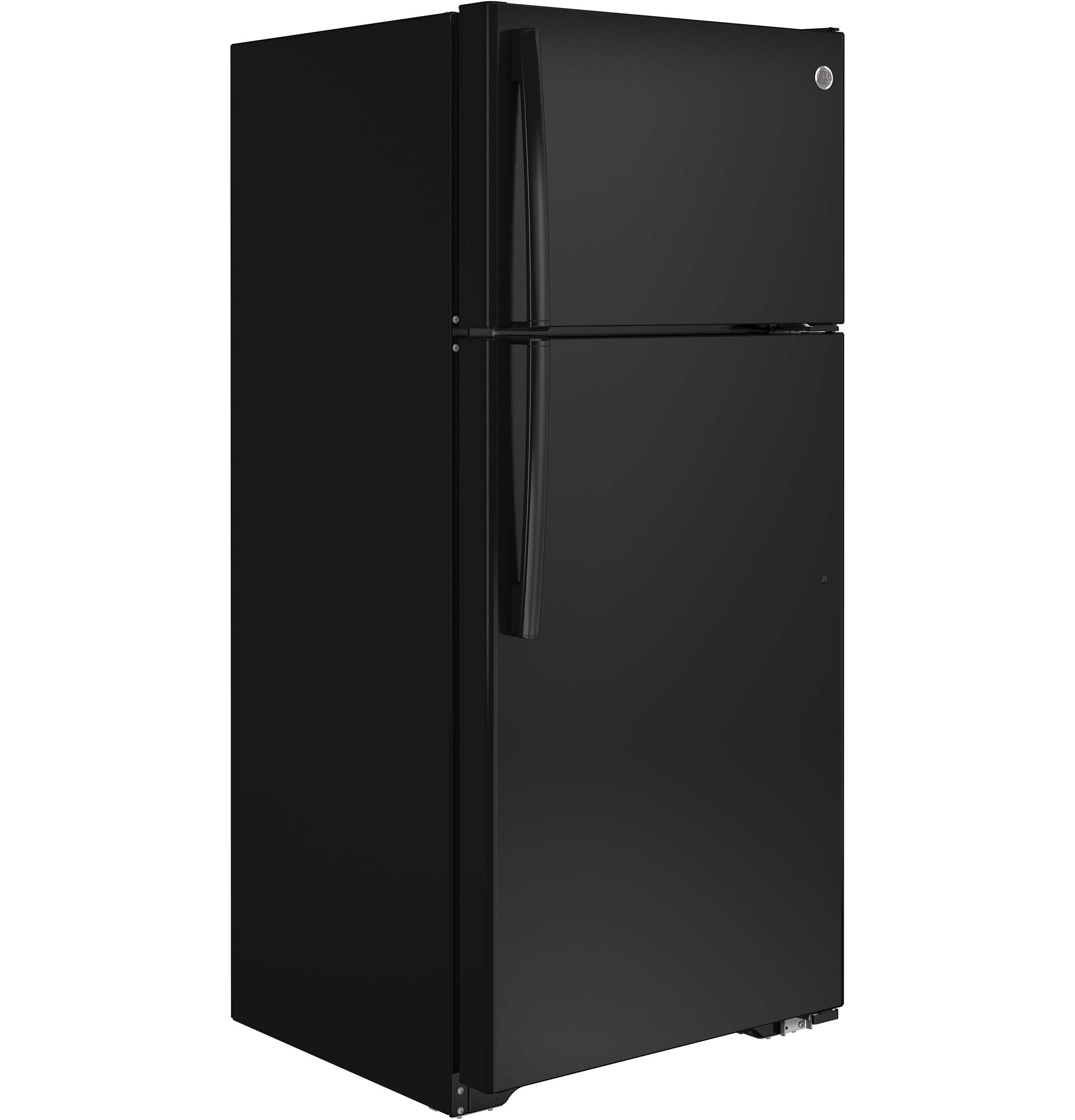 Model: GTE16DTHBB | GE® ENERGY STAR® 15.5 Cu. Ft. Top-Freezer Refrigerator