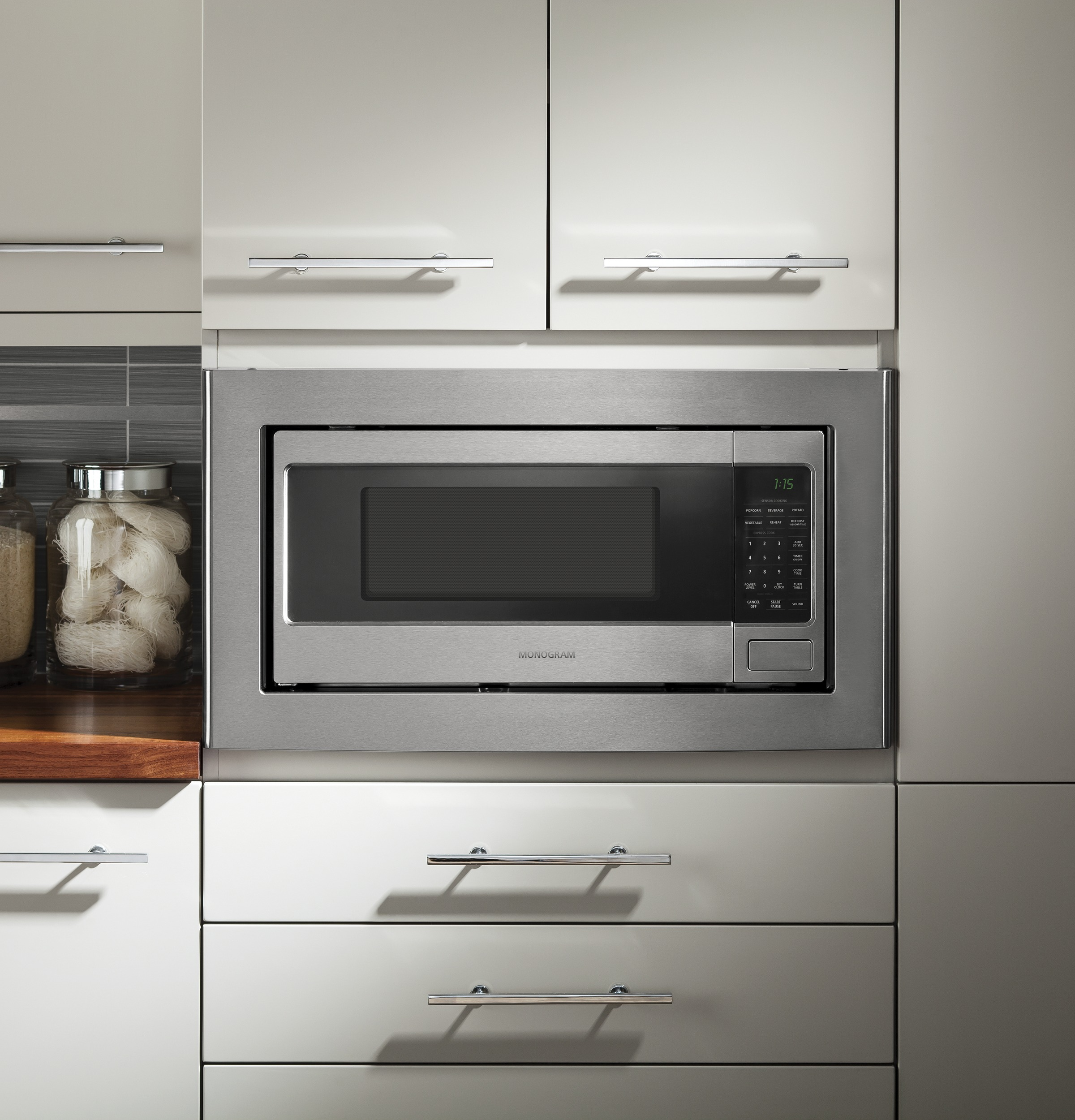 Model: ZEM115SJSS | Monogram Monogram 1.1 Cu. Ft. Countertop Microwave Oven