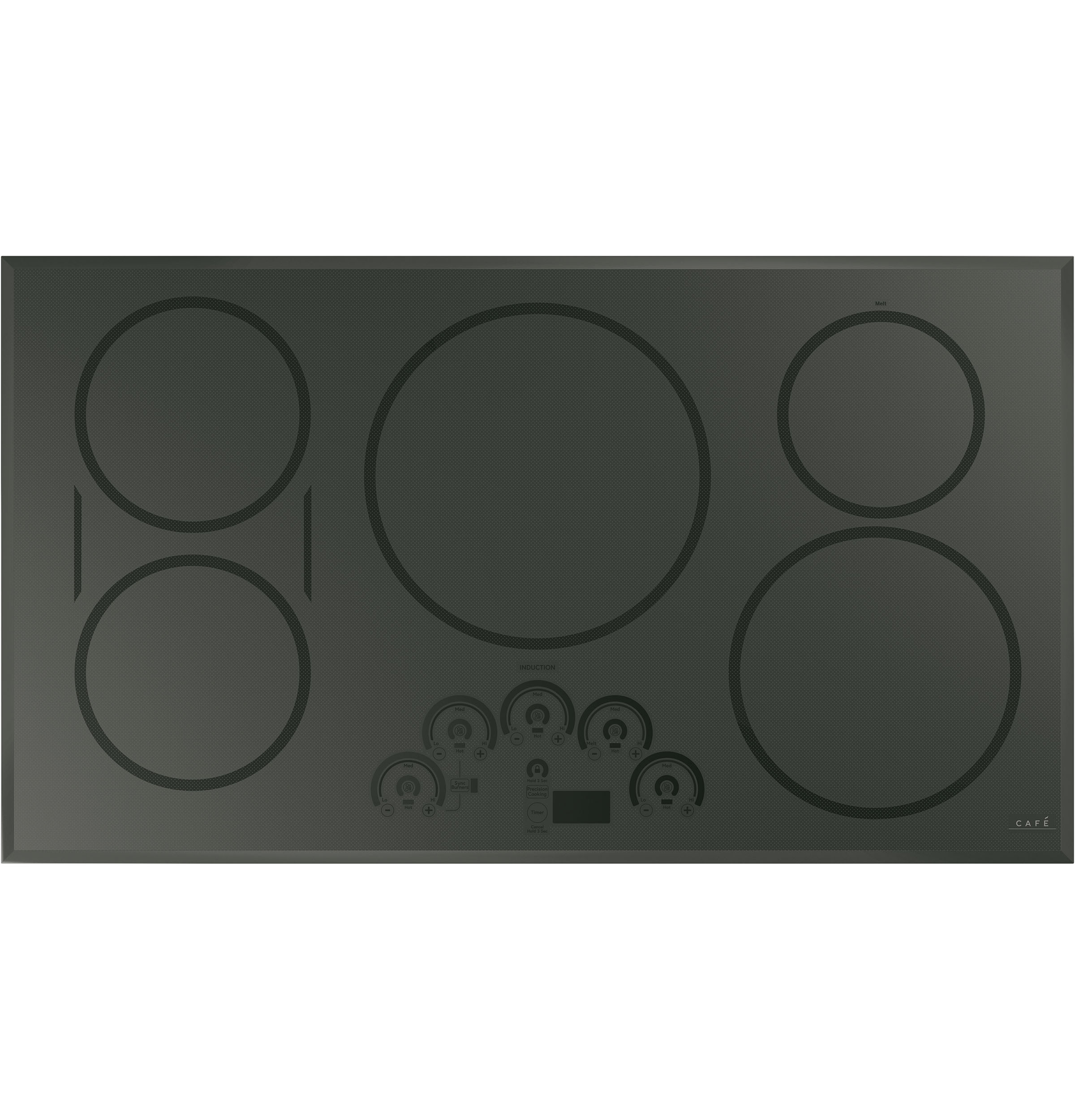 "Cafe Café™ 36"" Smart Touch-Control Induction Cooktop"