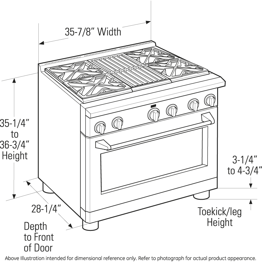 "Model: ZGP366LRSS | Monogram Monogram 36"" All Gas Professional Range with 6 Burners (Liquid Propane)"