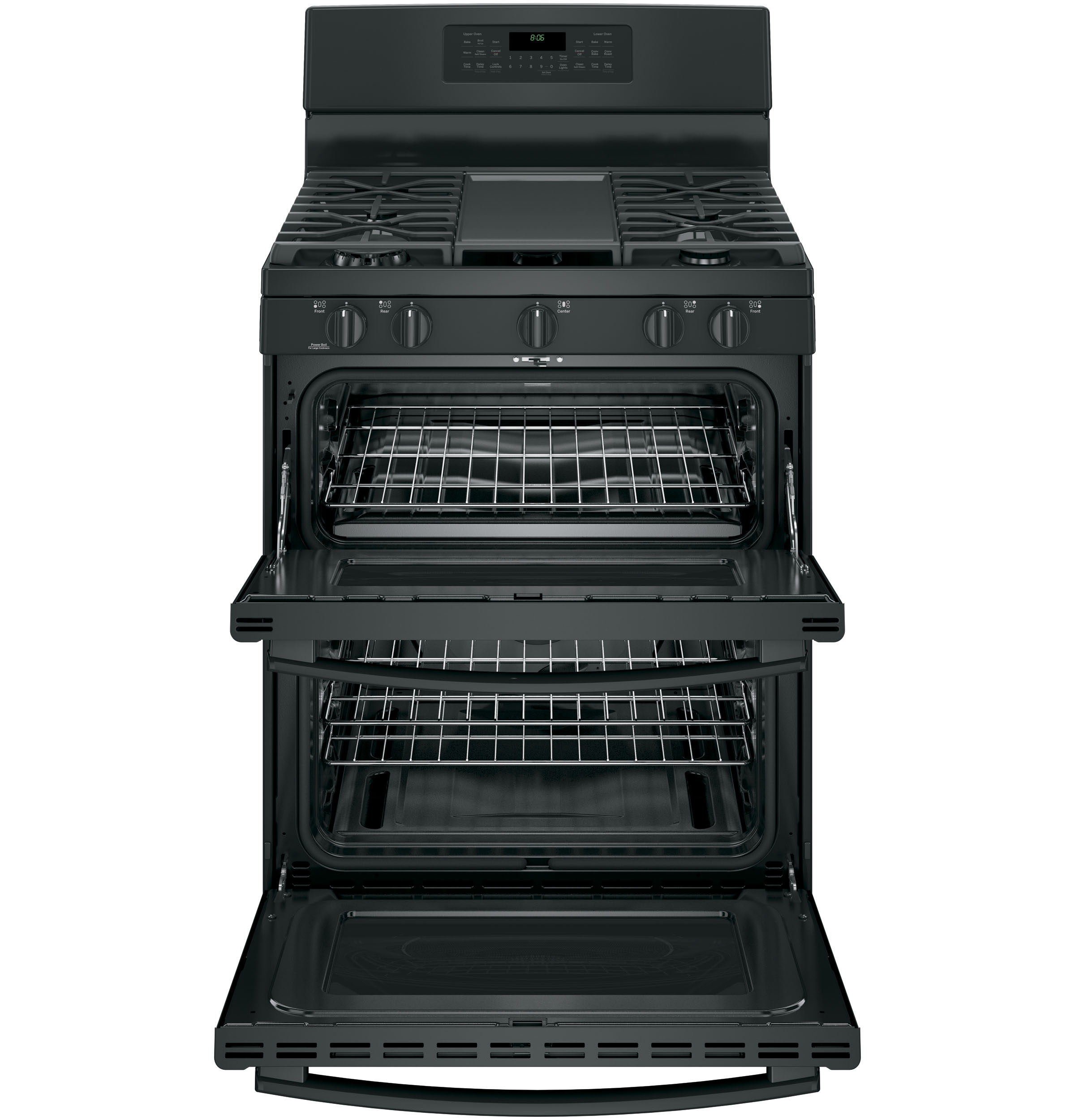 "Model: JGB860DEJBB | GE GE® 30"" Free-Standing Gas Double Oven Convection Range"
