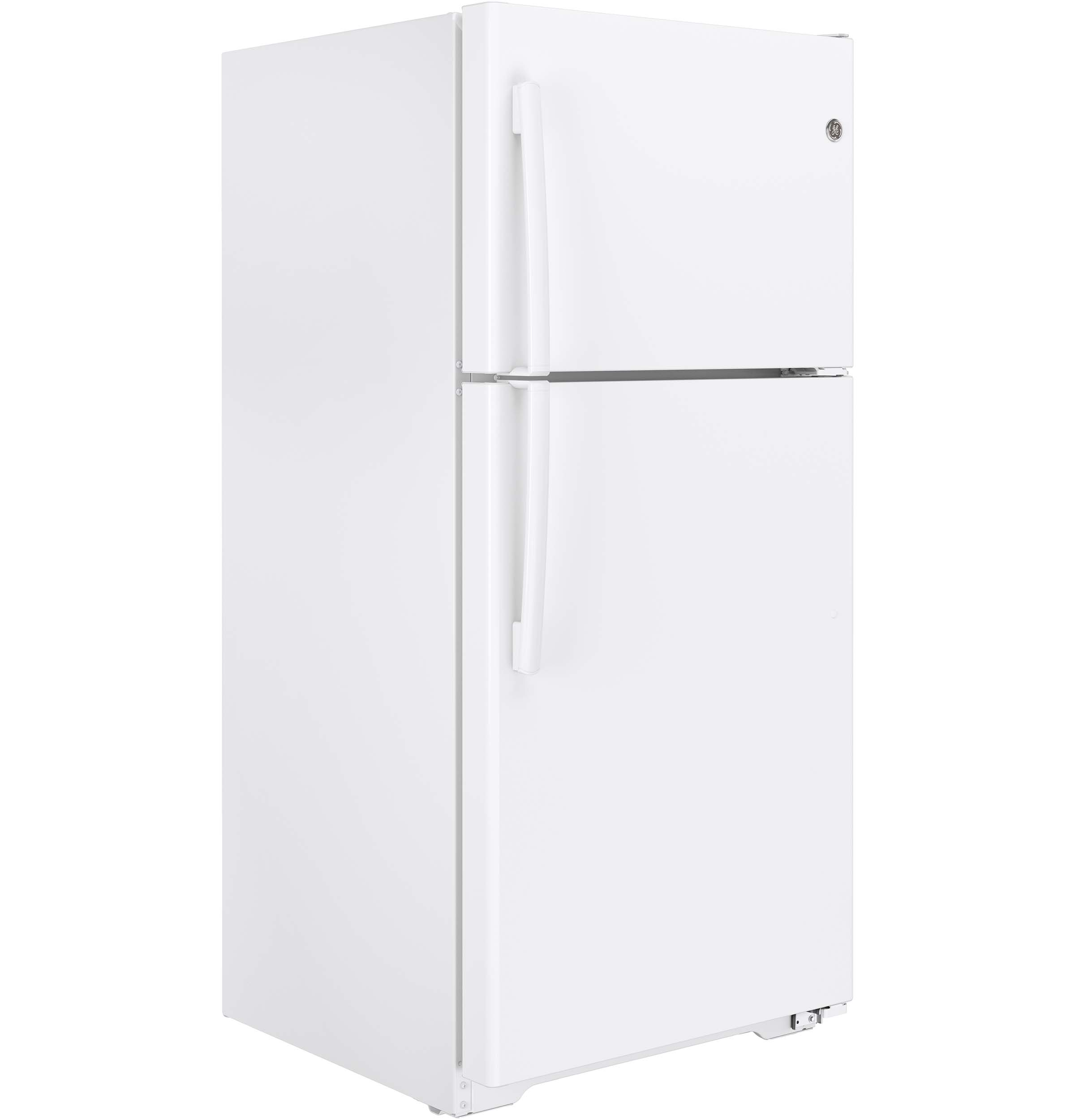 Model: GIE18ETHWW | GE GE® ENERGY STAR® 18.2 Cu. Ft. Top-Freezer Refrigerator