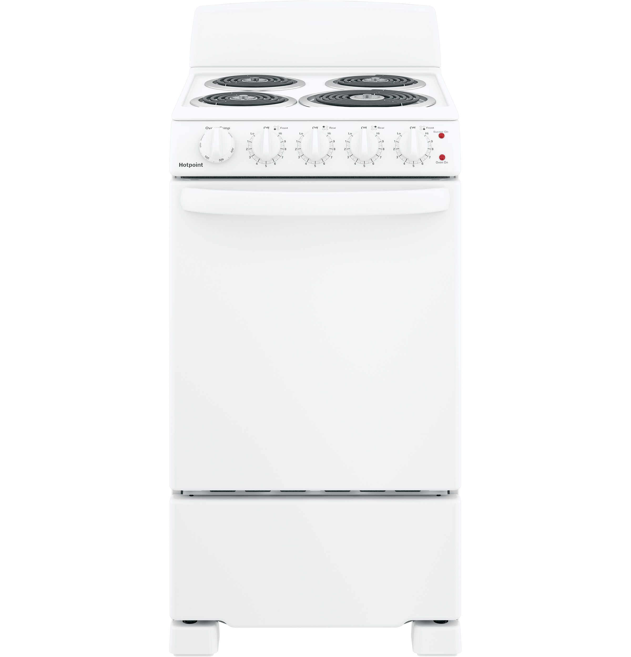 "Hotpoint Hotpoint® 20"" Electric Free-Standing Front-Control Electric Range"