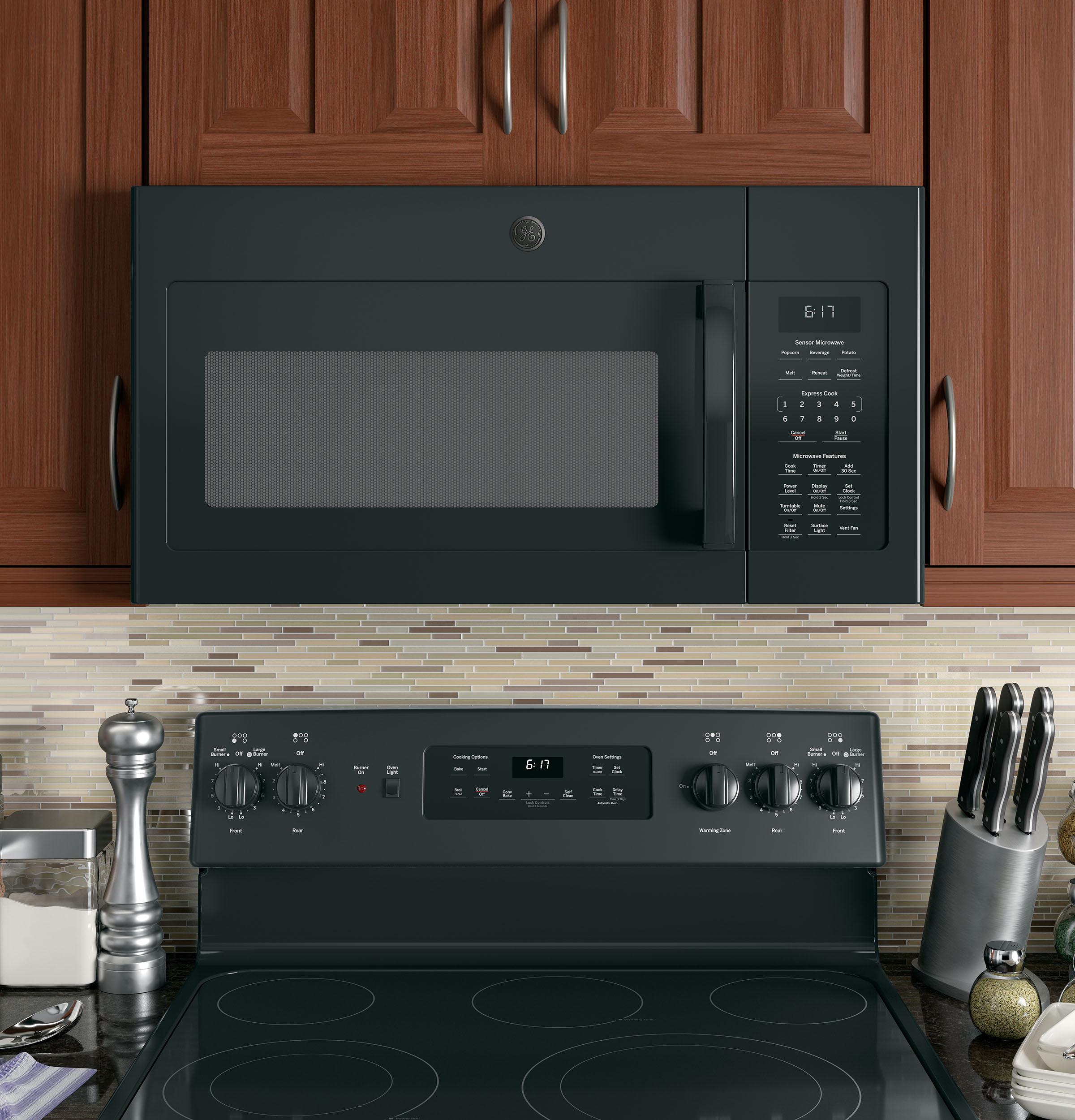 Model: JVM6175DKBB | GE GE® 1.7 Cu. Ft. Over-the-Range Sensor Microwave Oven
