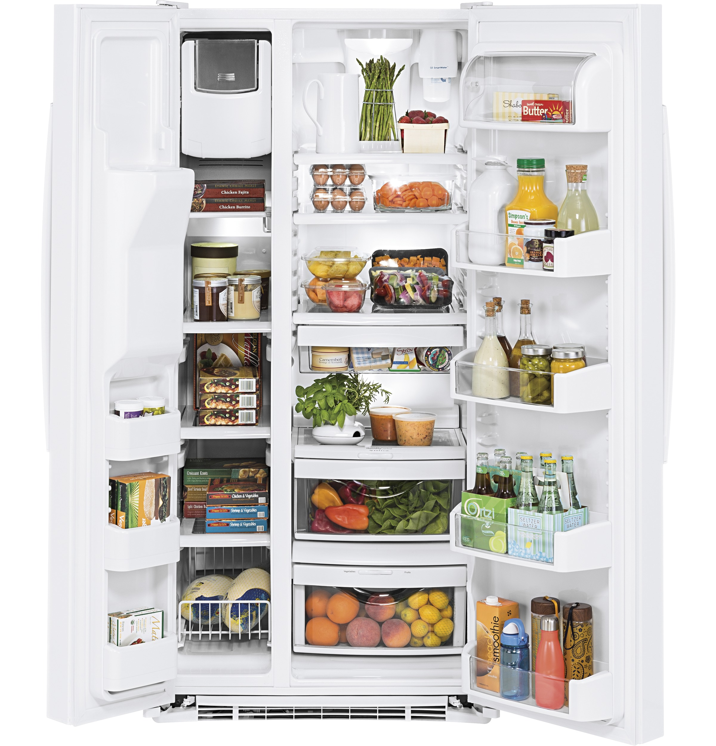 Model: GSS23HGHWW | GE GE® 23.2 Cu. Ft. Side-By-Side Refrigerator
