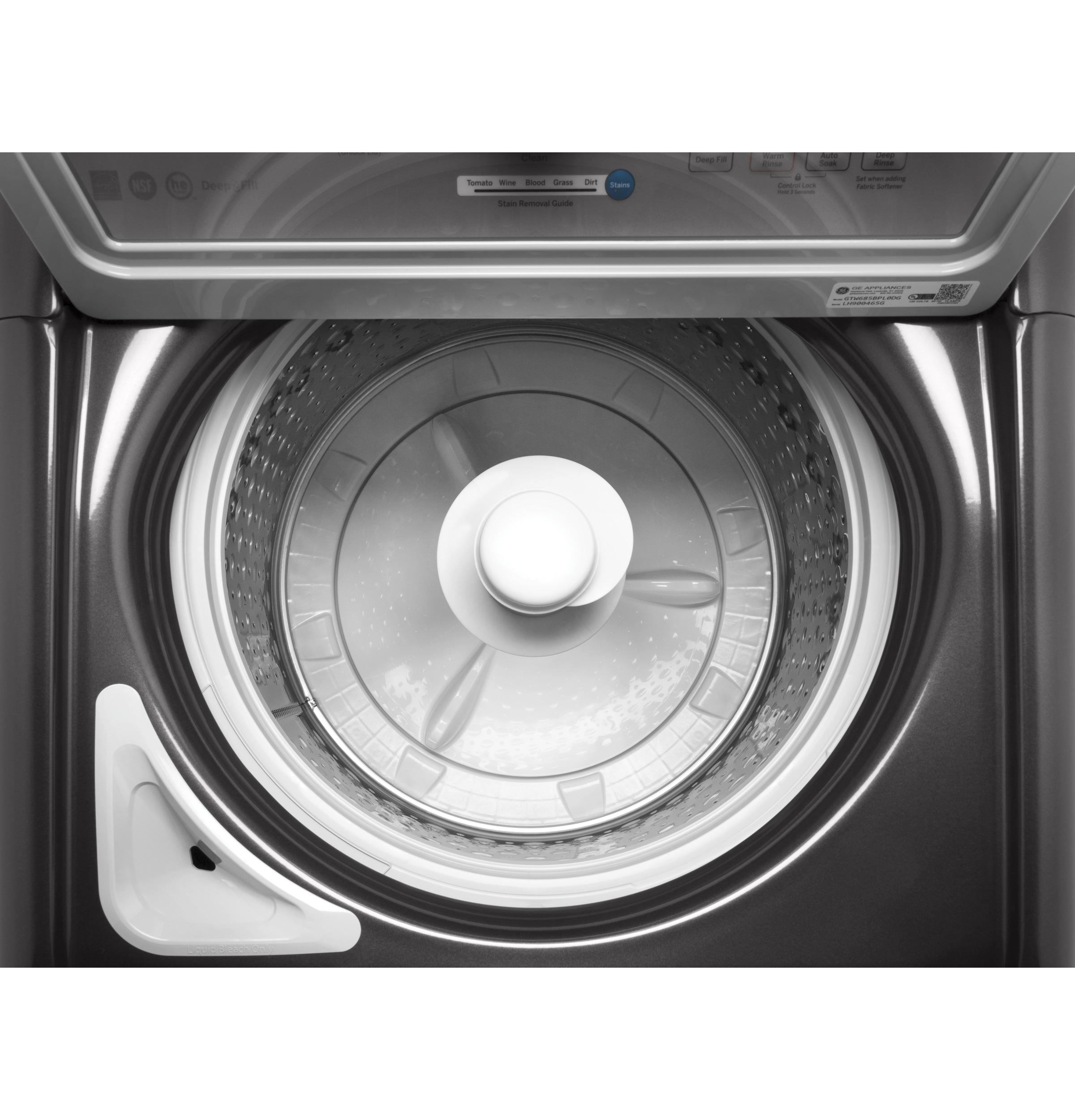 Model: GTW685BPLDG | GE GE® 4.5  cu. ft. Capacity Washer with Stainless Steel Basket