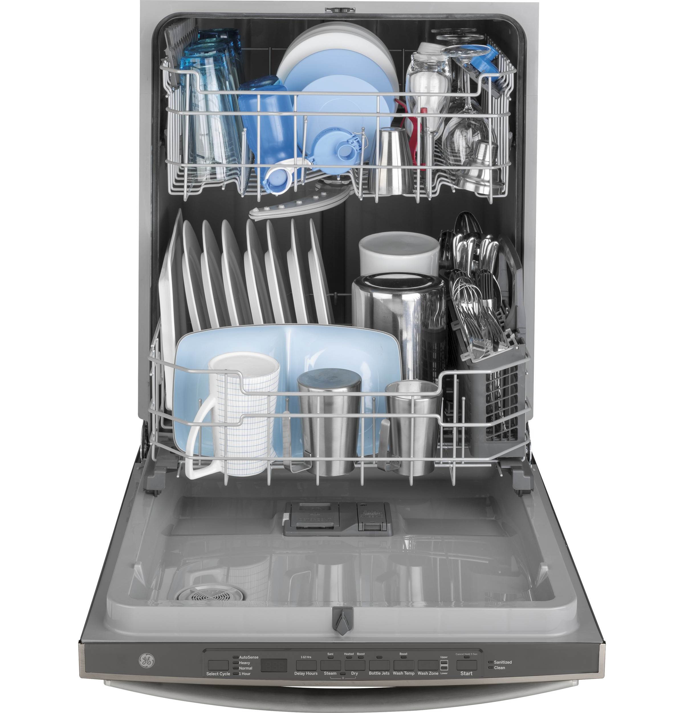 Model: GDT605PMMES | GE GE® Top Control with Plastic Interior Dishwasher with Sanitize Cycle & Dry Boost