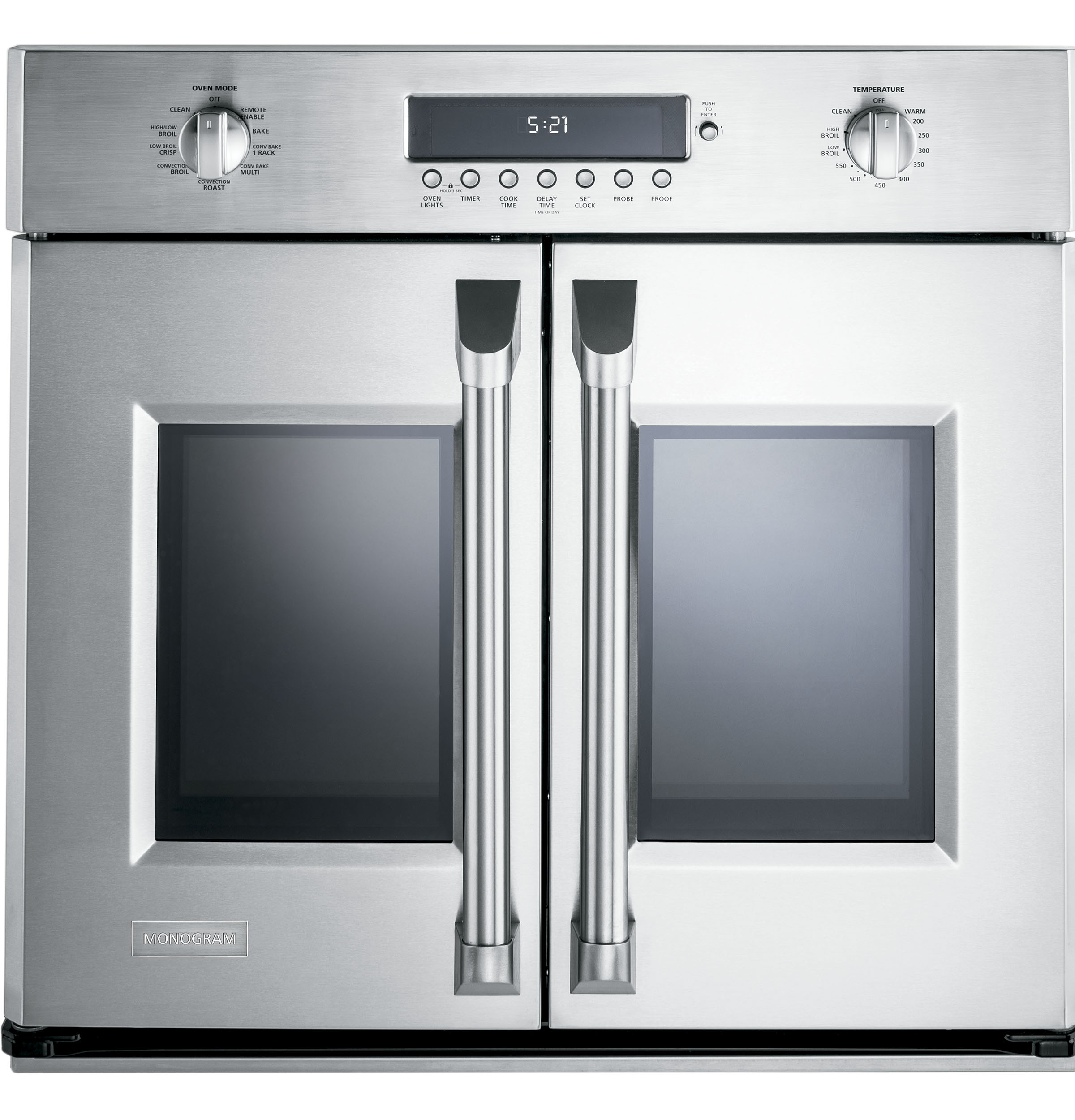 "Monogram Monogram 30"" Professional French-Door Electronic Convection Single Wall Oven"