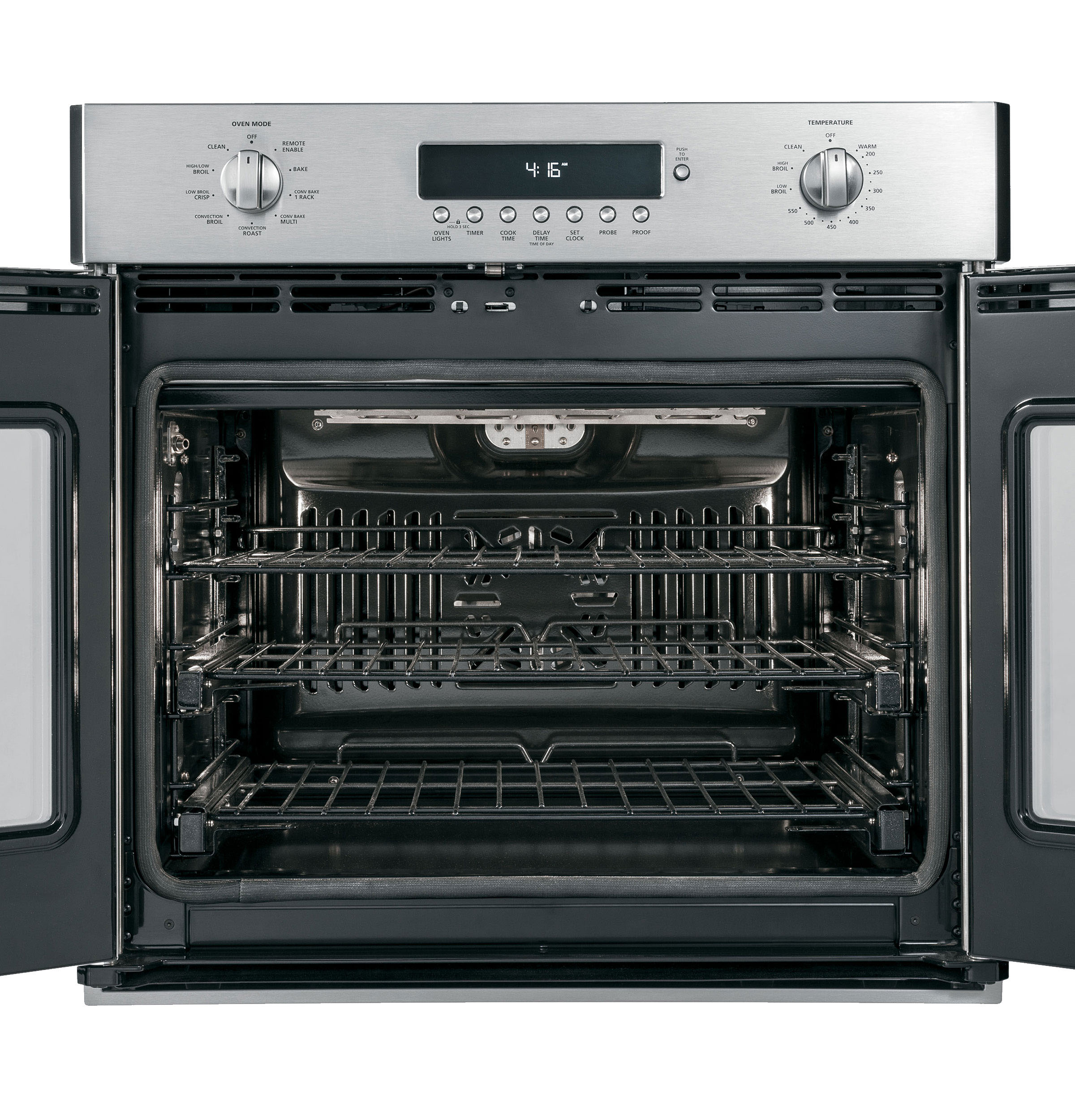 "Model: ZET1FHSS | Monogram Monogram 30"" Professional French-Door Electronic Convection Single Wall Oven"