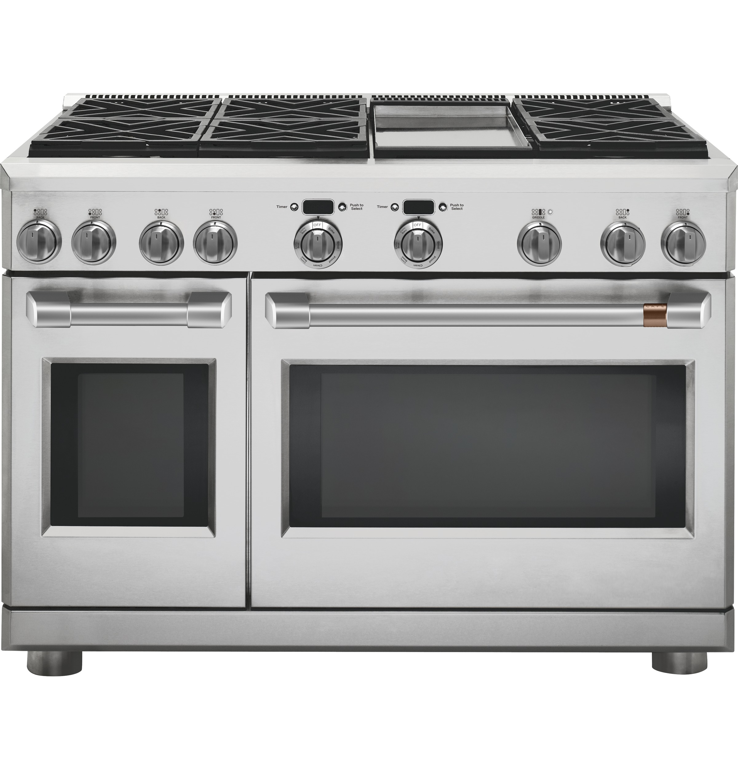 "Cafe Café™ 48"" Dual-Fuel Commercial-Style Range with 6 Burners and Griddle (Natural Gas)"