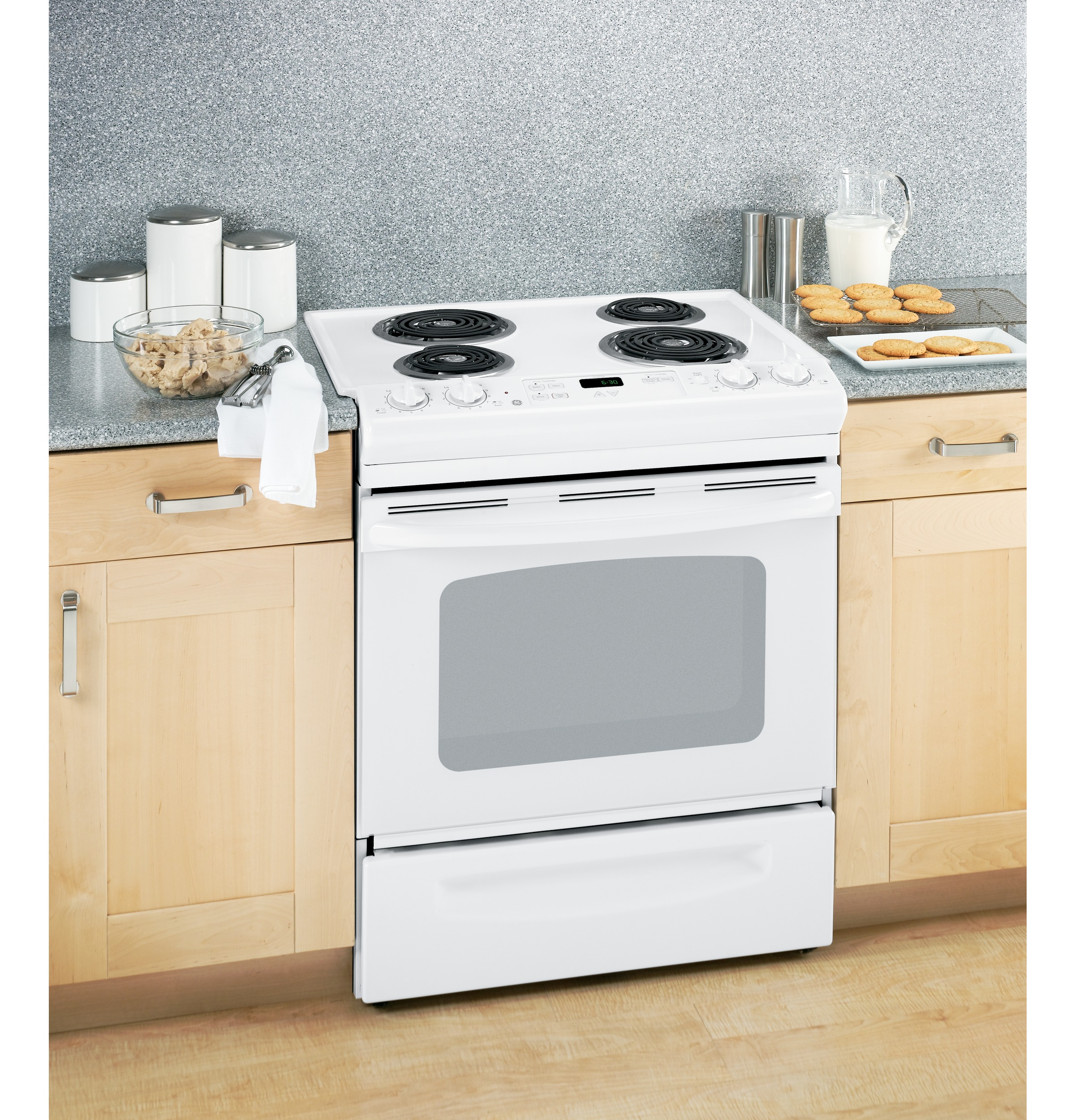 "GE GE® 30"" Slide-In Electric Range with Standard Clean Oven"